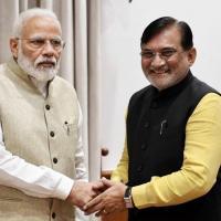 Lakshadweep Administrator Praful K Patel with the PM