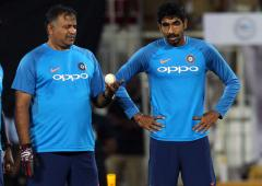 Bumrah executing coach Arun's instructions to a T