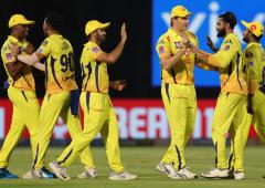 IPL PIX: CSK rout Delhi to set up final against Mumbai