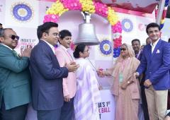 PIX: Mamata, Hasina inaugurate historic pink ball Test