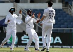 2nd Test PICS: India close in on big win over Windies