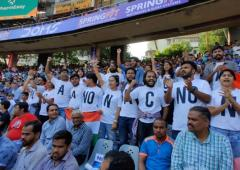 Peaceful anti-CAA protest at Wankhede