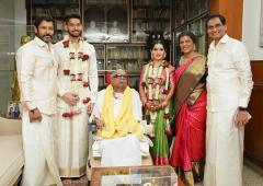 PIX: Vikram's daughter weds M Karunanidhi's great-grandson