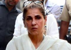 Scenes from Dimple Kapadia's mother's funeral