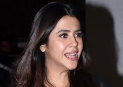 Who is Ekta Kapoor partying with?