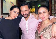 Kareena celebrates Saif's 50th birthday with a kiss!