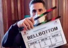 PIX: Akshay, Lara shoot for Bell Bottom