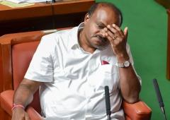 Why does Kumaraswamy cry so much?