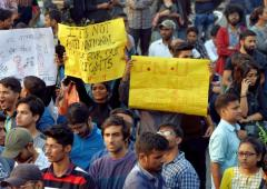 Hostel fee hike: JNU students continue to protest