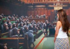 Banksy's UK Parliament painting sells for £10 million