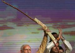 Respect all daughters: PM Modi at Dussehra event