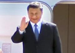 Xi arrives in Chennai to a traditional welcome