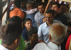 Kejriwal boards buses to get feedback about free-ride