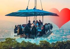 This restaurant serves food, adventure up in the air!