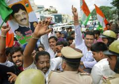 Protests erupt in Karnataka over Shivakumar's arrest