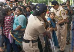 Students protest outside Bachchan's home; 22 detained