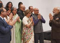 PM assures Kashmiri Pandits of new Kashmir in Houston
