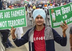 'Farmers won't let India become slaves'