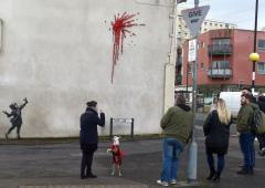 Banksy strikes again with Valentine's Day graffiti
