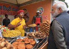 PIX: PM relishes 'litti-chokha' at Delhi's Hunar Haat