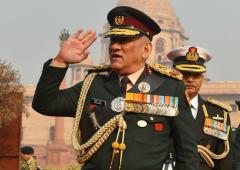 New peak cap, badges: Gen Rawat makes debut as CDS