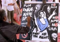 Resisting with art: Protests against CAA continue