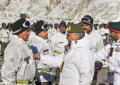 PHOTOS: Army Chief visits forward posts in Siachen