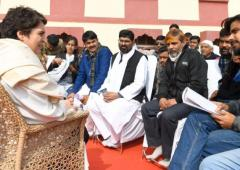 Priyanka meets anti-CAA activists in Varanasi