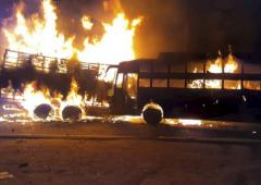 UP: 20 feared dead as bus catches fire after accident