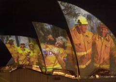 Sydney Opera House's tribute to firefighters