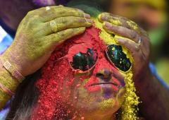 PHOTOS: Indians celebrate Holi amid coronavirus scare
