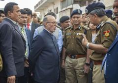 LG Baijal visits riot-hit areas, interacts with locals