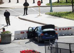Man rams car into Capitol cops; 1 dead, driver shot