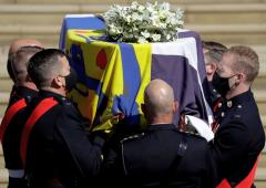 Britain's Prince Philip laid to rest in royal ceremony