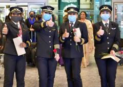 PIX: All-women AI crew successfully lands in Bengaluru