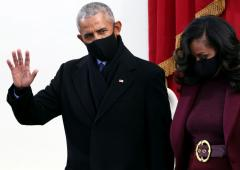 PHOTOS: Obamas, Clintons attend Biden's inauguration