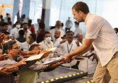 Rahul hits campaign trail in TN, targets PM Modi