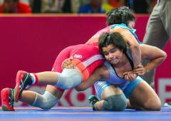 Asian Wrestling: Divya humbles junior world champion