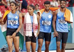 India's mixed relay Asiad silver upgraded to GOLD!