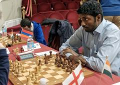 Adhiban beats Adams to tie for third in Isle of Man