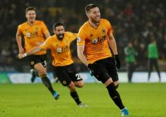 EPL: City's title bid fades after collapse at Wolves