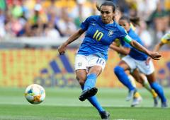 PIX: Marta scores landmark goal but Brazil lose to Aus