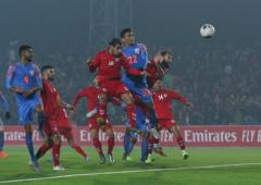 WC Qualifier: Injury-time goal saves India