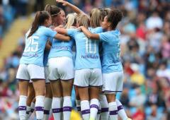 Record crowd watch City women win Manchester derby