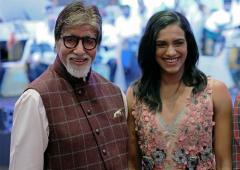 PIX: World Champ Sindhu parties with Big B, Jr Bachchan