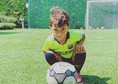 WATCH Mateo Messi: Like father, like son...