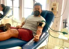 COVID-19: This Indian footballer donated blood