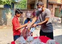 SEE: India footballer Subhashish helps the needy