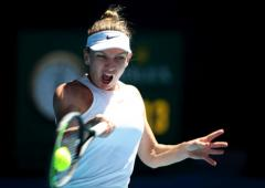 Frustrated Halep happy to advance in Melbourne