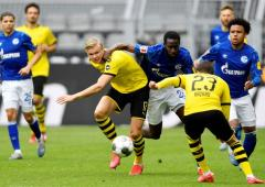 PHOTOS: Dortmund thrash Schalke as Bundesliga resumes